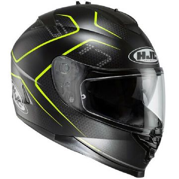 HJC IS-17 Lank Black Yellow Full Face Motorcycle Helmet -Small - Free Pinlock
